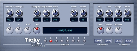 TickyClav VST plugin
